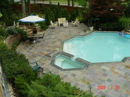 Custom Shaped Pool with Flagstone Patio