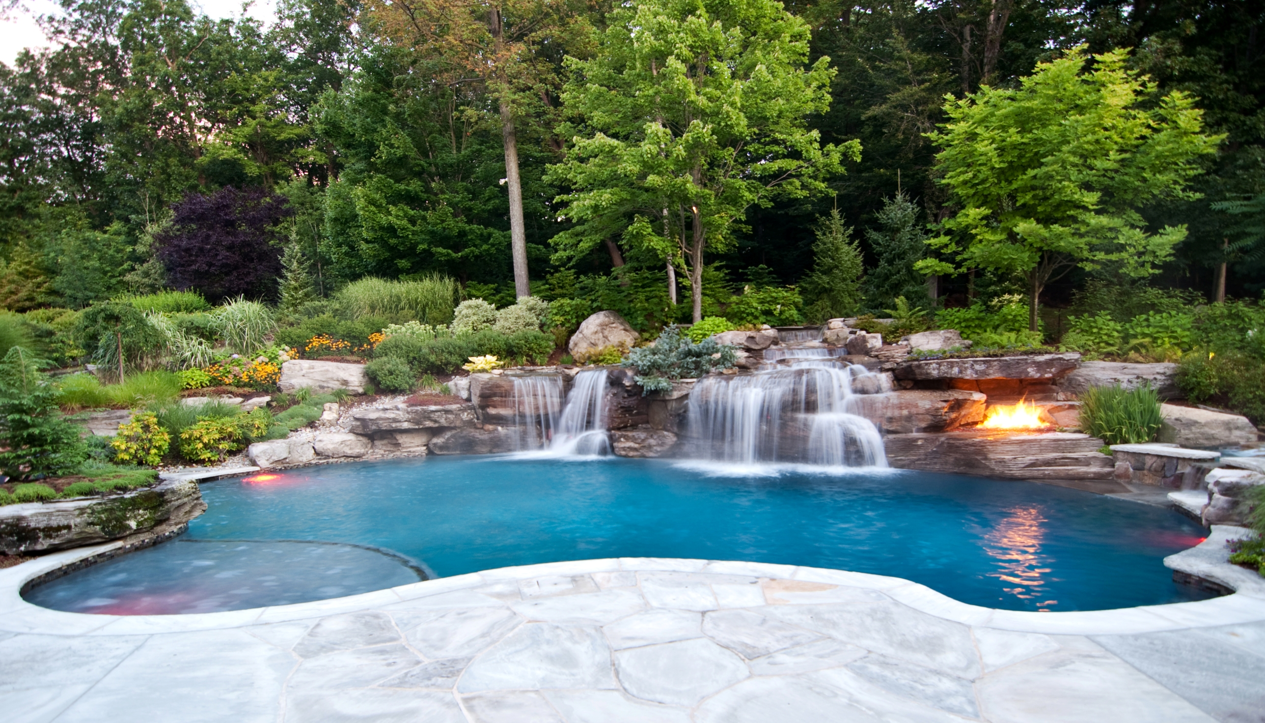 New pool construction northern virginia maryland and for Backyard inground pool ideas
