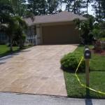 Flagstone style driveway