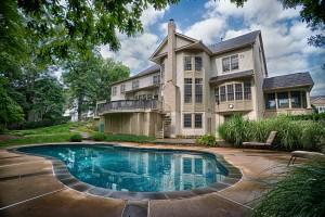 Oakton VA Pool Design & Construction Project With Flagstone Walkway