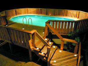 Beautiful Basic Wooden Pool Deck
