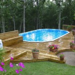 Gorgeous Back Yard Pool with Custom Wood Decking Design