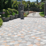 Nice driveway with a special pattern