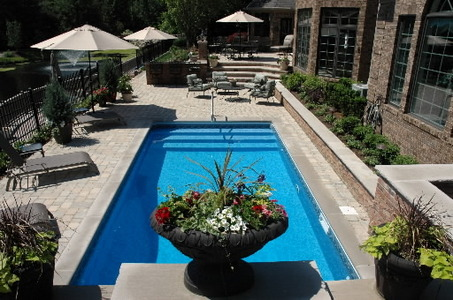 Nice Gorgeous Pool With Garden On The Side