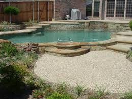 Zen pool custom made with stepping stones for Pool design virginia