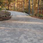 Example of a long paver driveway in Greatfalls, VA