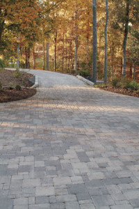 Example of a long paver driveway in Greatfalls, VA