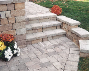 A nice example of a paver walkway and steps in northern Virginia