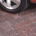 Red Aquia stone driveway in Mclean,VA