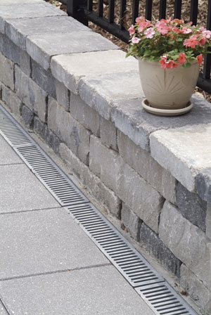 Chapel Stone Wall In Northern Virginia With A Drainage