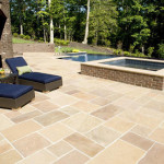Desert Gold Pattern Flagstone Pool Deck