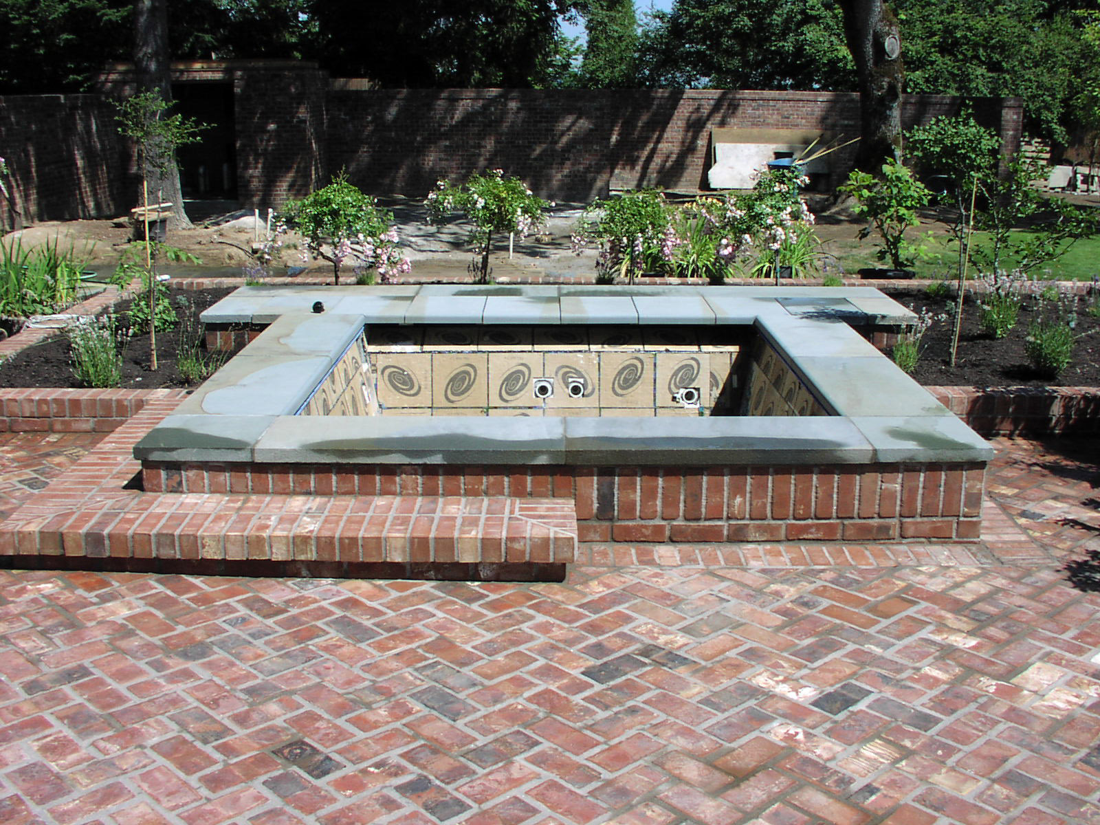 Brick Patio With Jacuzzi On Top