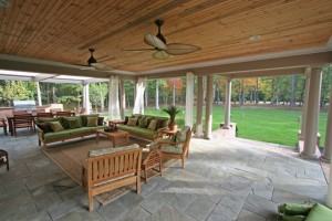 Outdoor living room fit for any size family or group outing.