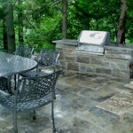 Outdoor patio in backyard from Flagstone