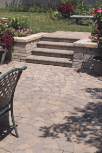 Pavers patio with stone step and stoops in northern va