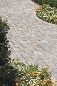 Paver patios between garden in northern va