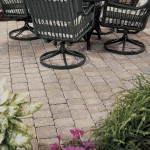 Paver patio and garden in northern virginia