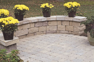 Pavers patio and garden wall in northern va