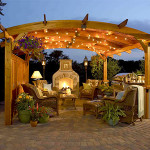 Beautiful outdoor area perfect for romantic evenings