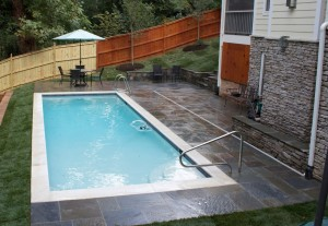 Pool deck from Flagstone