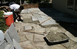 Laying New Flagstone walkway in Northern VA