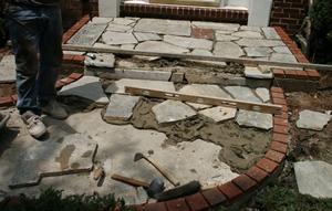 New Irregular shaped walkway in Herndon VA