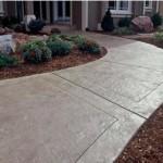 Unique Concrete Home Walkway