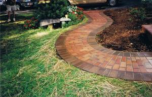 Garden Walkway in Loudoun County