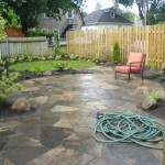Garden area with flagstone