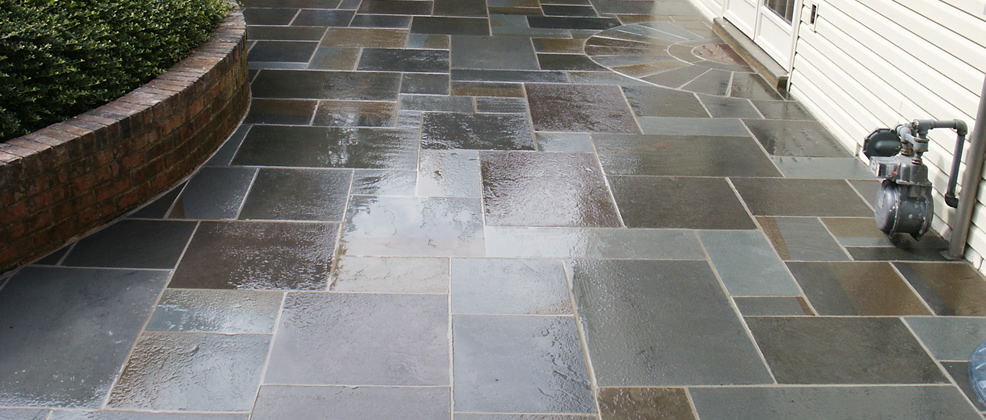how to clean outdoor limestone