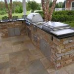 Outdoor Kitchen Space made with Stone