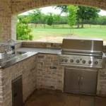 Beautiful Brick Outdoor Kitchen