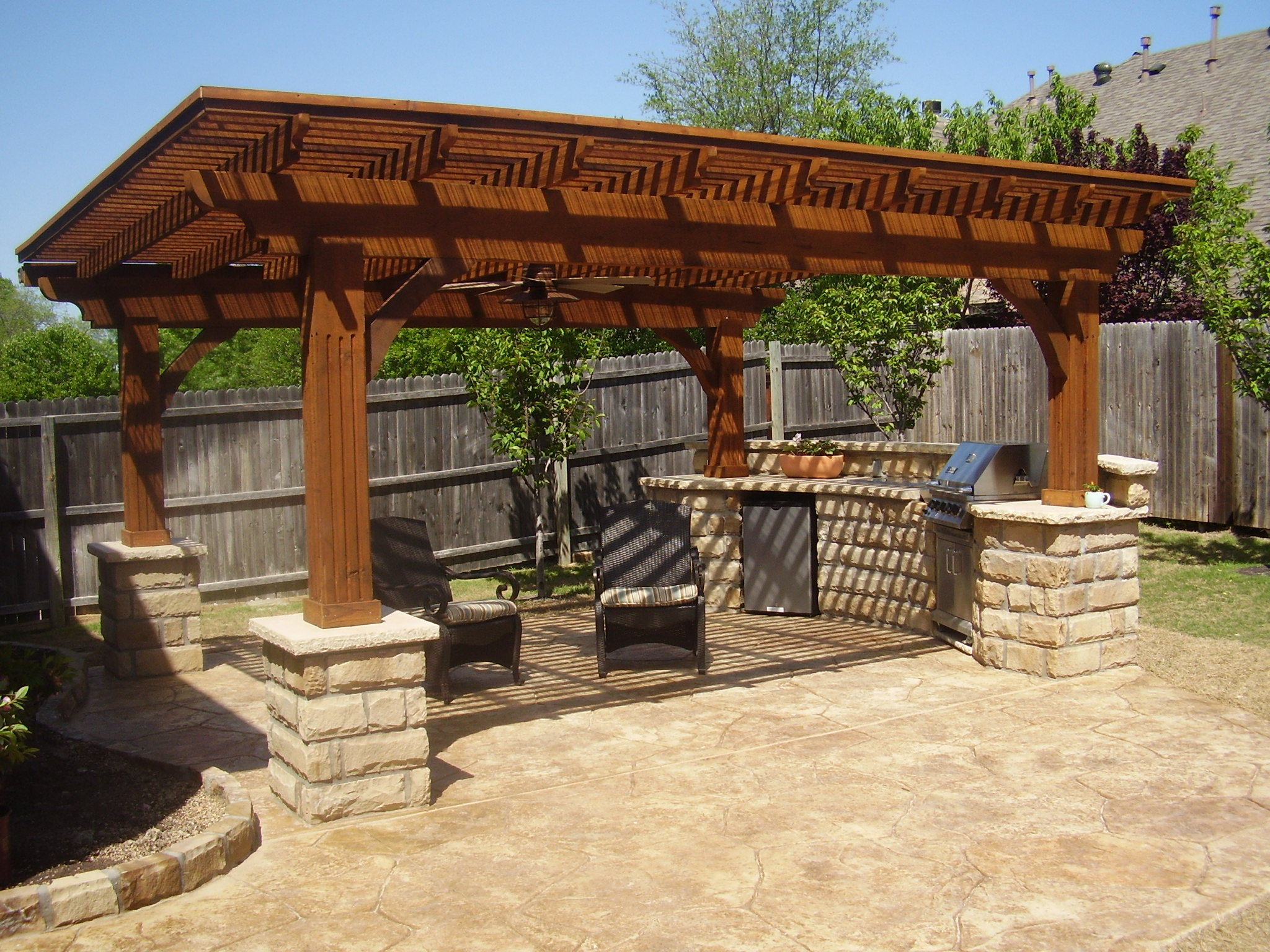 Outdoor kitchen design construction company north va for Backyard patio ideas pictures
