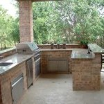 Nice Stone Outdoor Kitchen Work