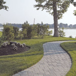 Long winding brick patio example in Virgina