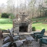 Simple Outdoor Fireplace for Your Patio