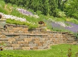 Elegant Garden Retaining Wall