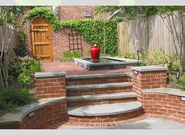Concrete and Brick Steps