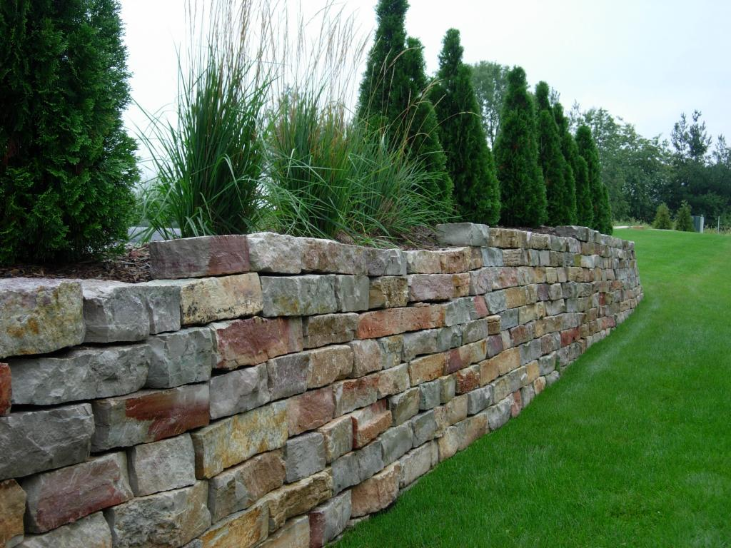 Stone Wall Blocks : Block and stone retaining wall construction company north va