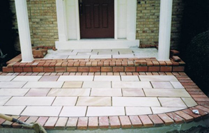 Brick and Flagstone walkway in Springfield VA