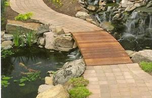 Custom Walkway meets Wooden Bridge Arlington VA