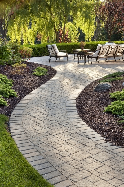 Elegant Brick Patio Walkway