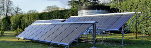 Business class solar heating panels for larger pools or public areas