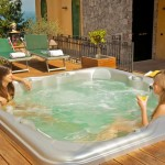 Bring over family and friends to your new spa