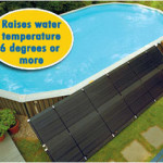 Example of a solar heating solution to raise 6 degrees or more