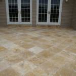 travertine behind house