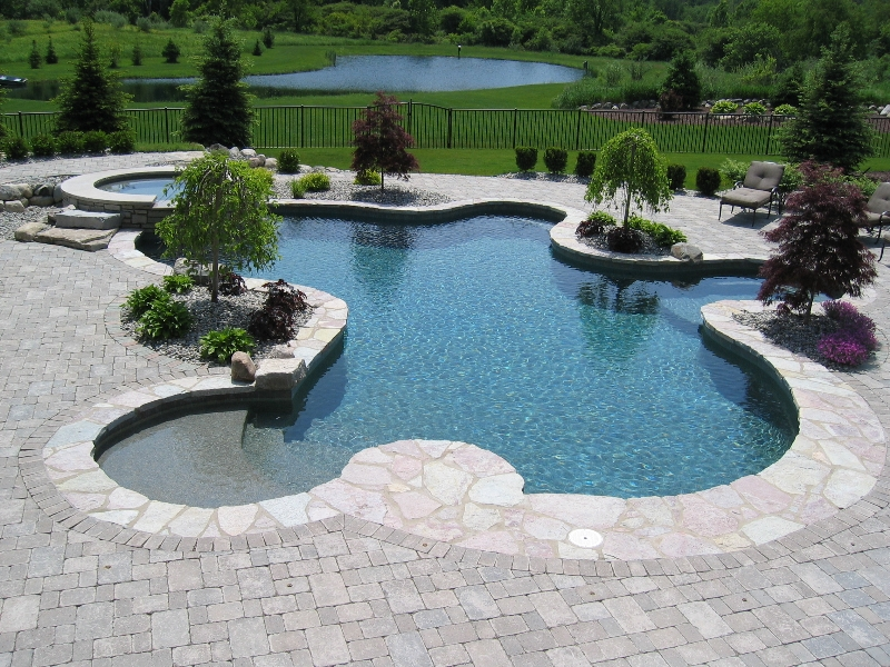 Inground Pool Design And Installation Stone Patios