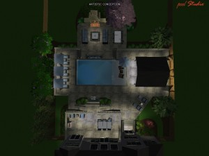 Night Time 3D architectural entertainment view