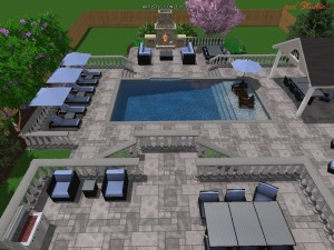 Eagle eye 3D of the lounging area
