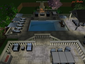Night Time Entertainment With Fireplace
